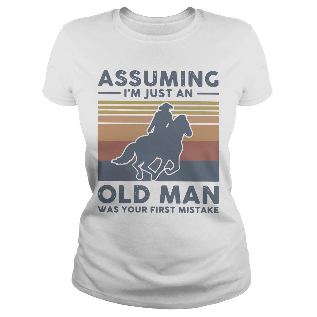 Vintage Equestrian Riding Horse Assuming I'm Just An Old Man Longsleeve