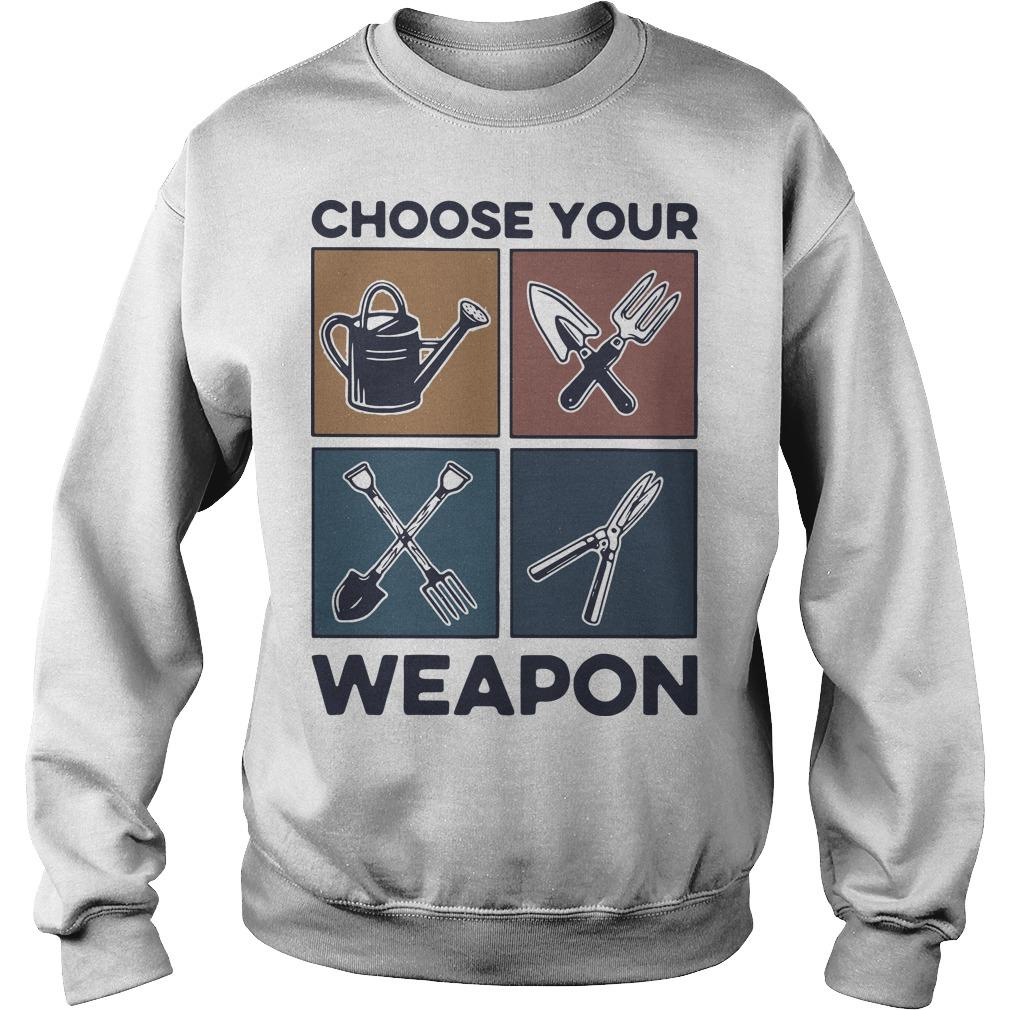 Vintage Gardening Choose Your Weapon Sweater
