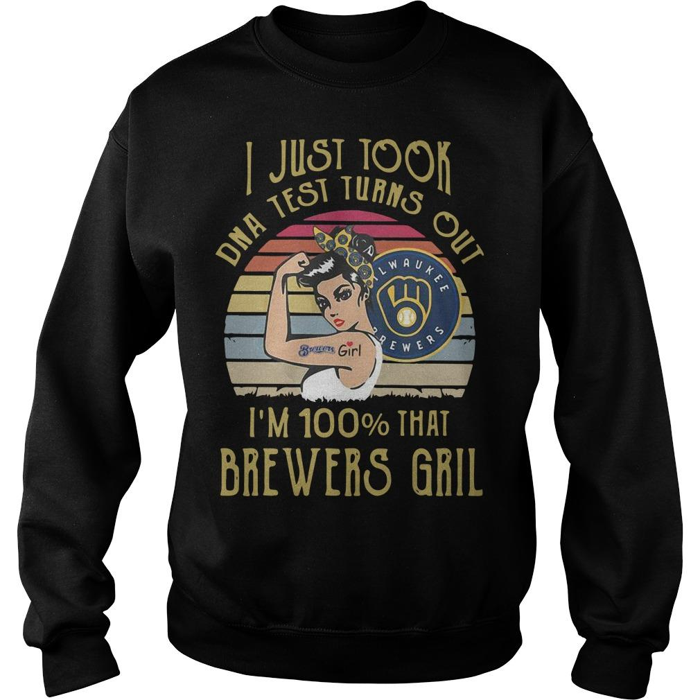 Vintage I Just Took Dna Test Turns Out I'm 100% That Brewers Girl Sweater