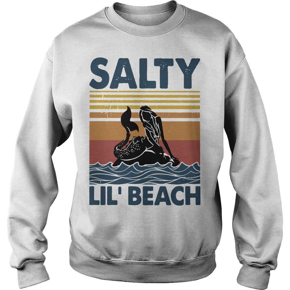 Vintage Mermaid Salty Lil' Beach Sweater