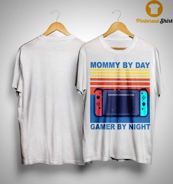 Vintage Mommy By Day Gamer By Night Shirt