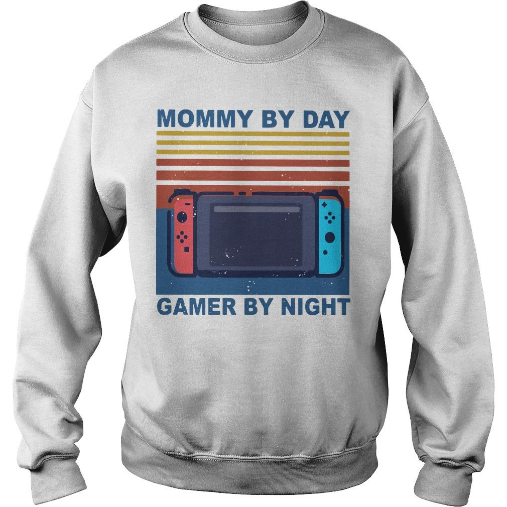 Vintage Mommy By Day Gamer By Night Sweater