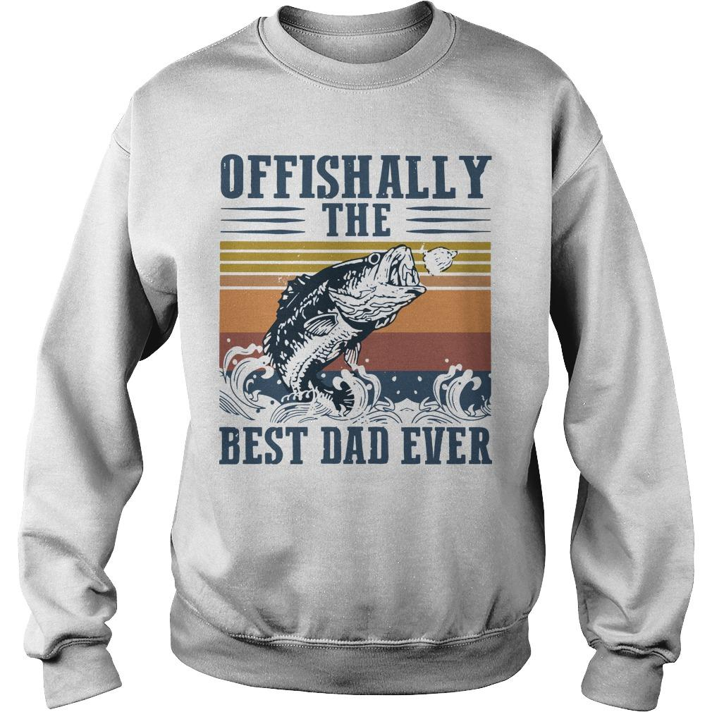 Vintage Offishally The Best Dad Ever Sweater