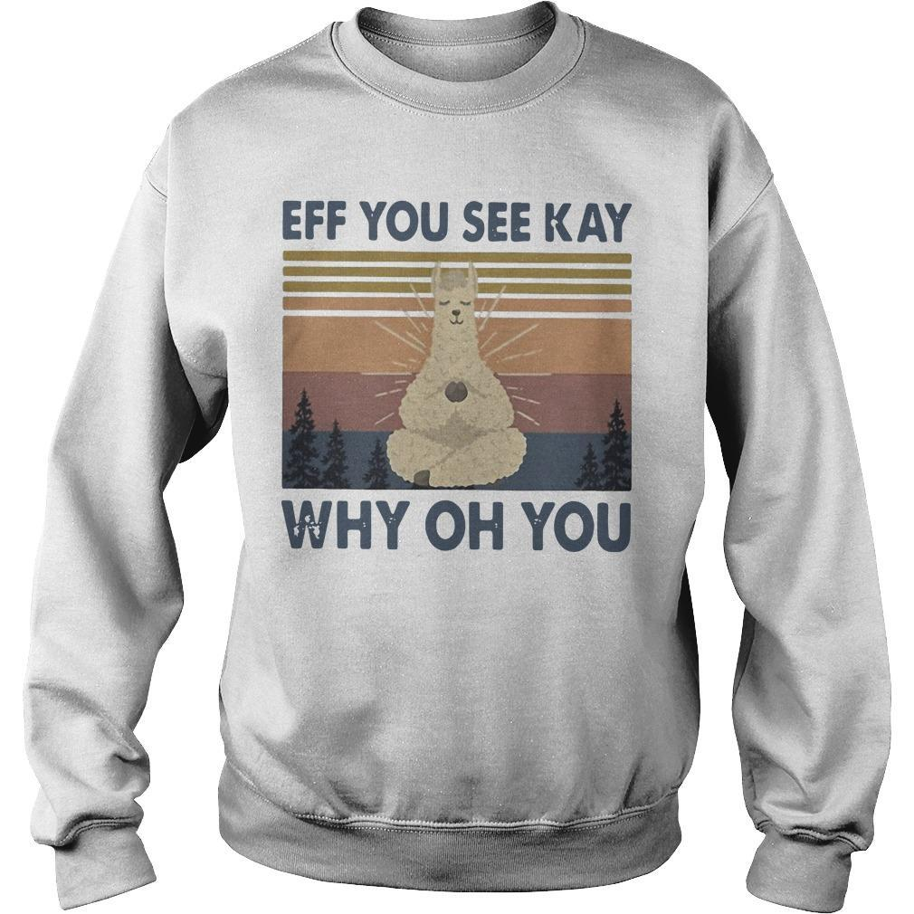 Vintage Sheep Yoga Eff You See Kay Why Oh You Sweater