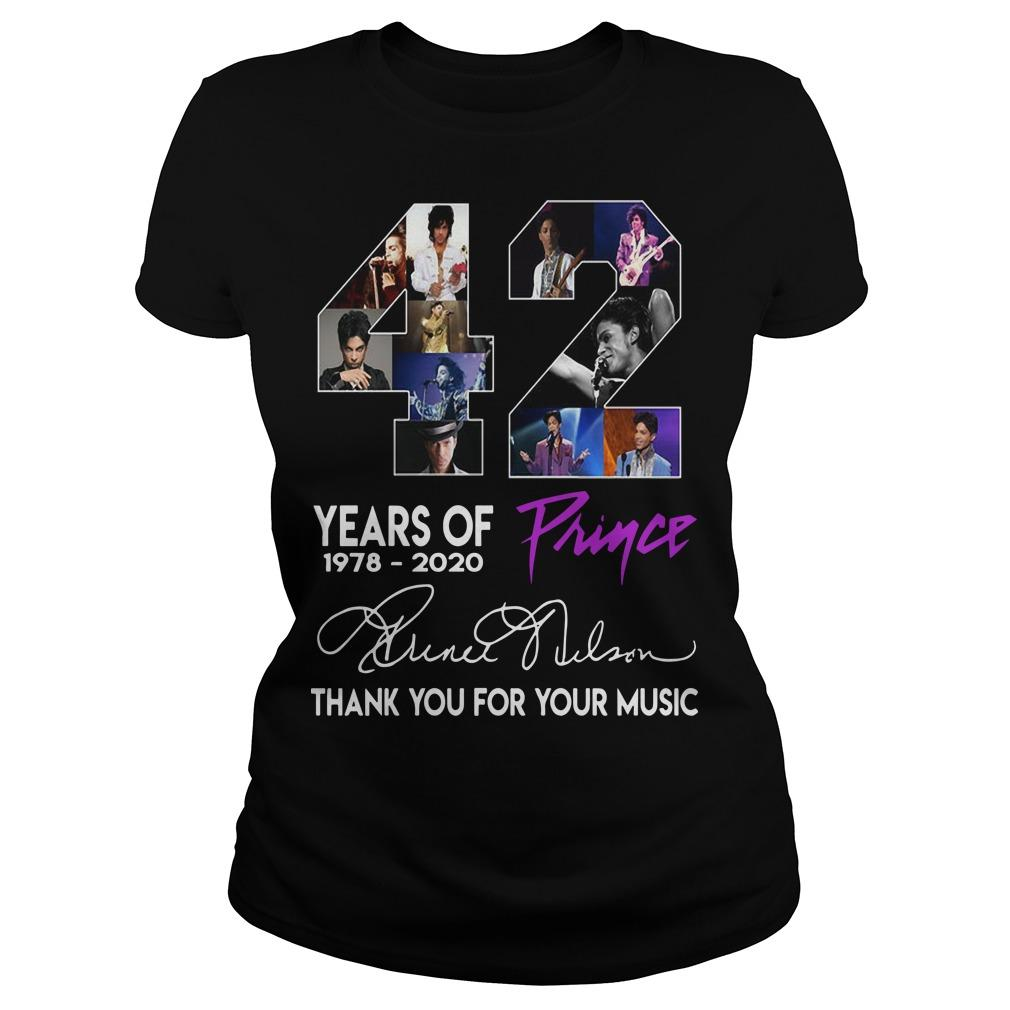 42 Years Of Prince Thank You For Your Music Longsleeve