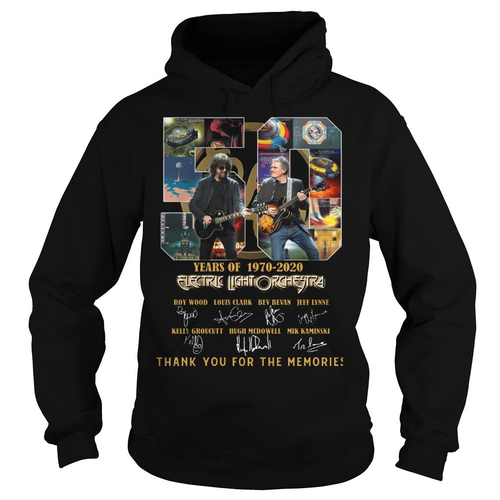 50 Years Of Electric Light Orchestra Thank You For The Memories Hoodie