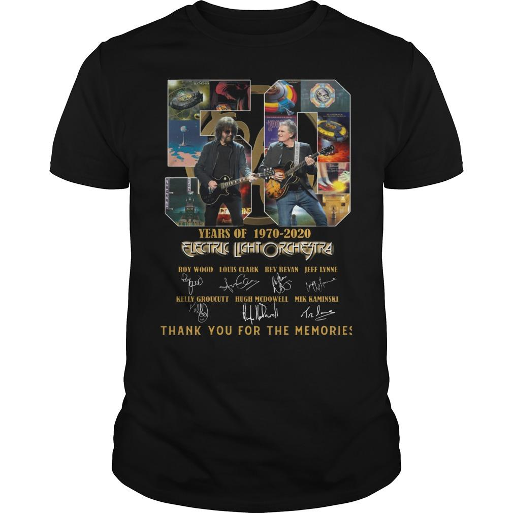 50 Years Of Electric Light Orchestra Thank You For The Memories Shirt