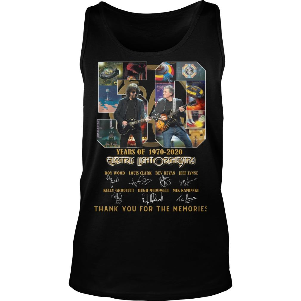 50 Years Of Electric Light Orchestra Thank You For The Memories Tank Top