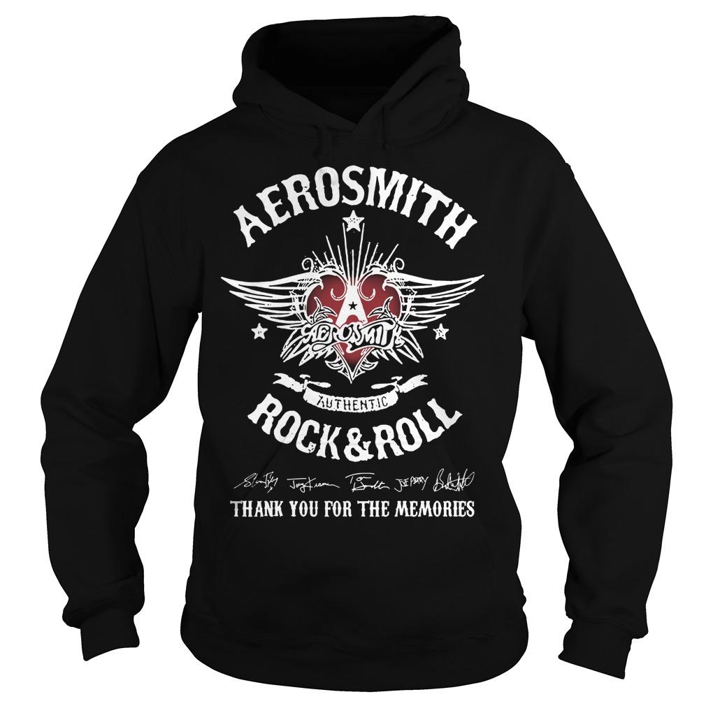 Aerosmith Authentic Rock And Roll Thank You For The Memories Hoodie