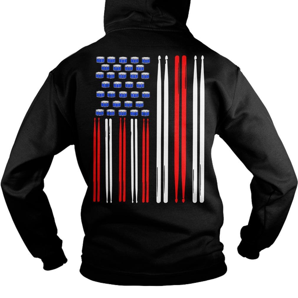 American Flag Drumsticks Hoodie