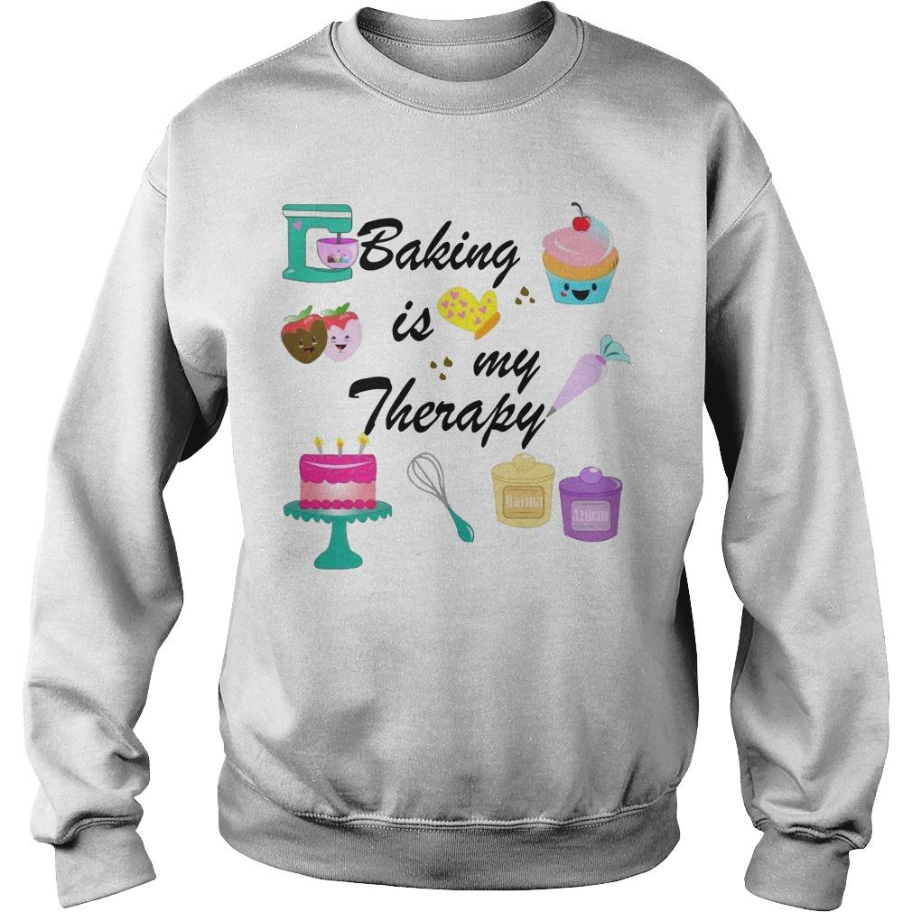 Baking Is My Therapy Sweater