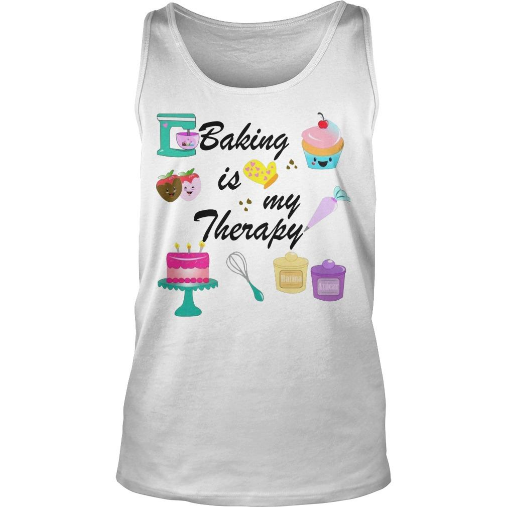 Baking Is My Therapy Tank Top