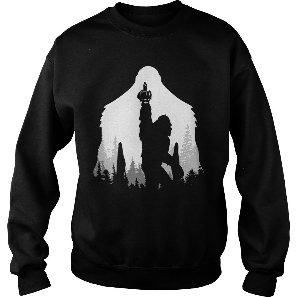 Bigfoot Middle Finger In The Forest Sweater