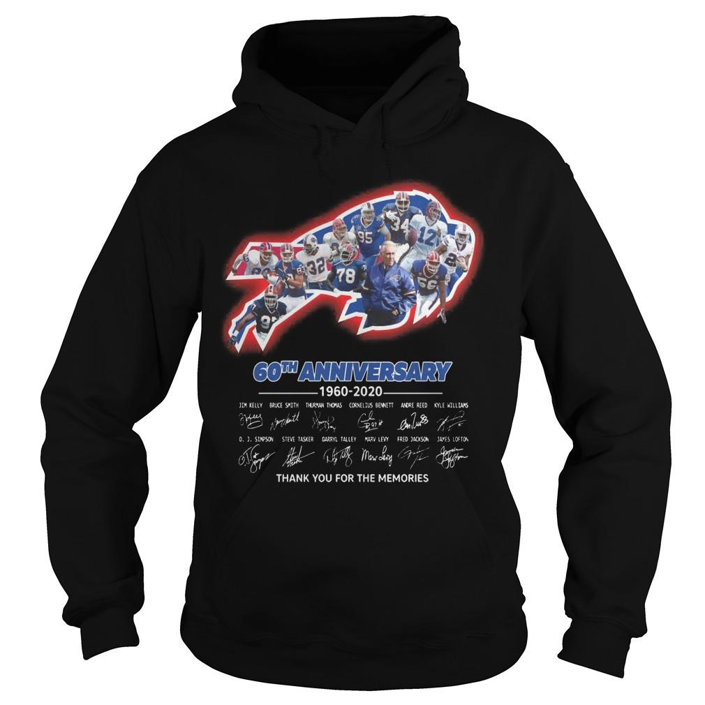 Bills 60th Anniversary Thank You For The Memories Hoodie