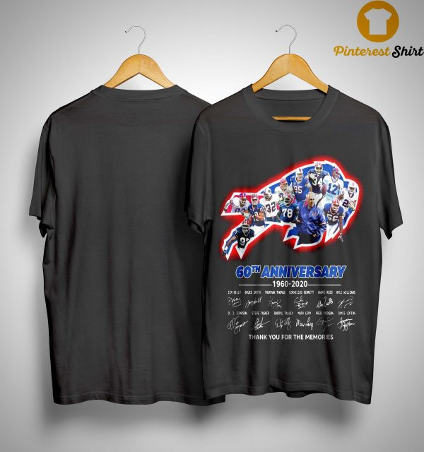 Bills 60th Anniversary Thank You For The Memories Shirt