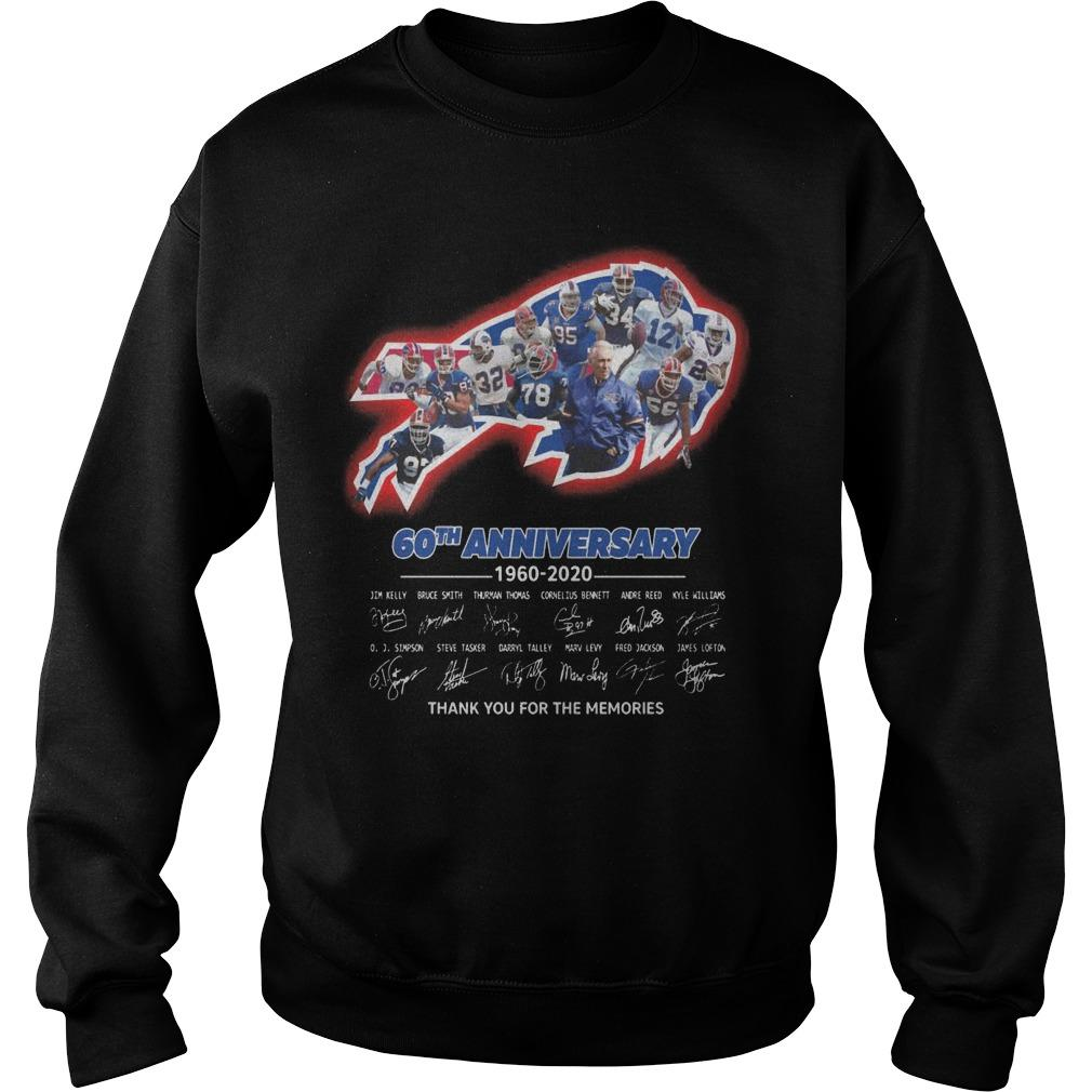 Bills 60th Anniversary Thank You For The Memories Sweater