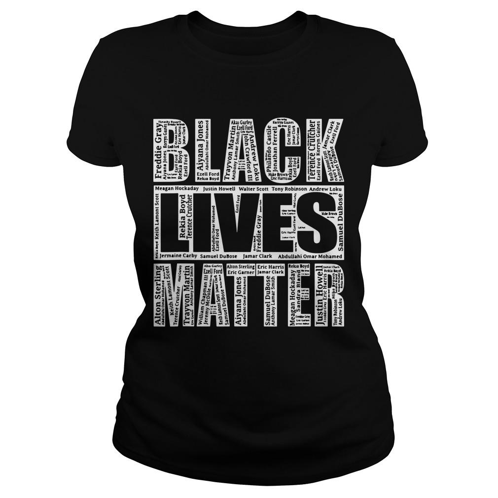 Black Lives Matter With Names Of Victims Longsleeve