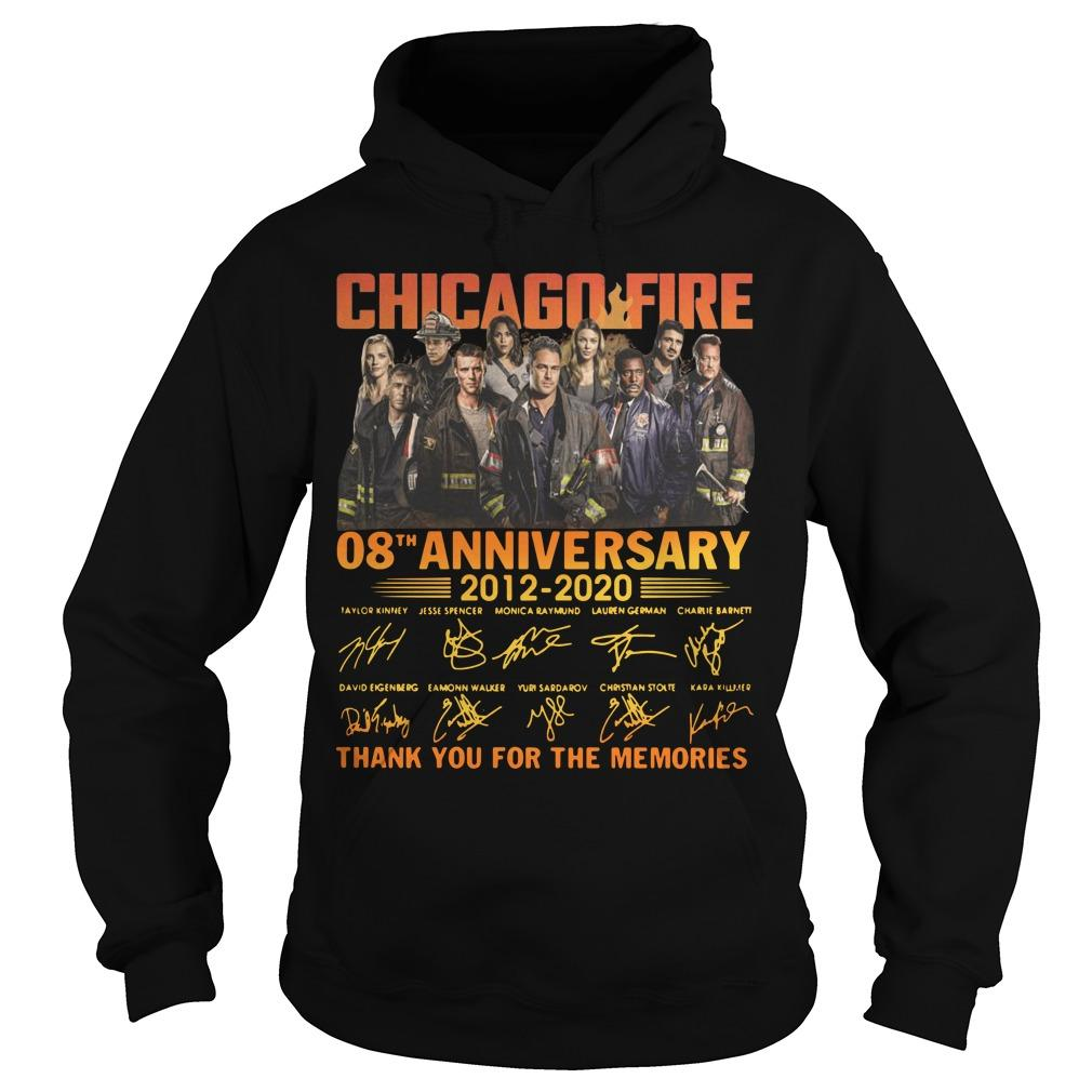 Chicago Fire 08th Anniversary Thank You For The Memories Hoodie