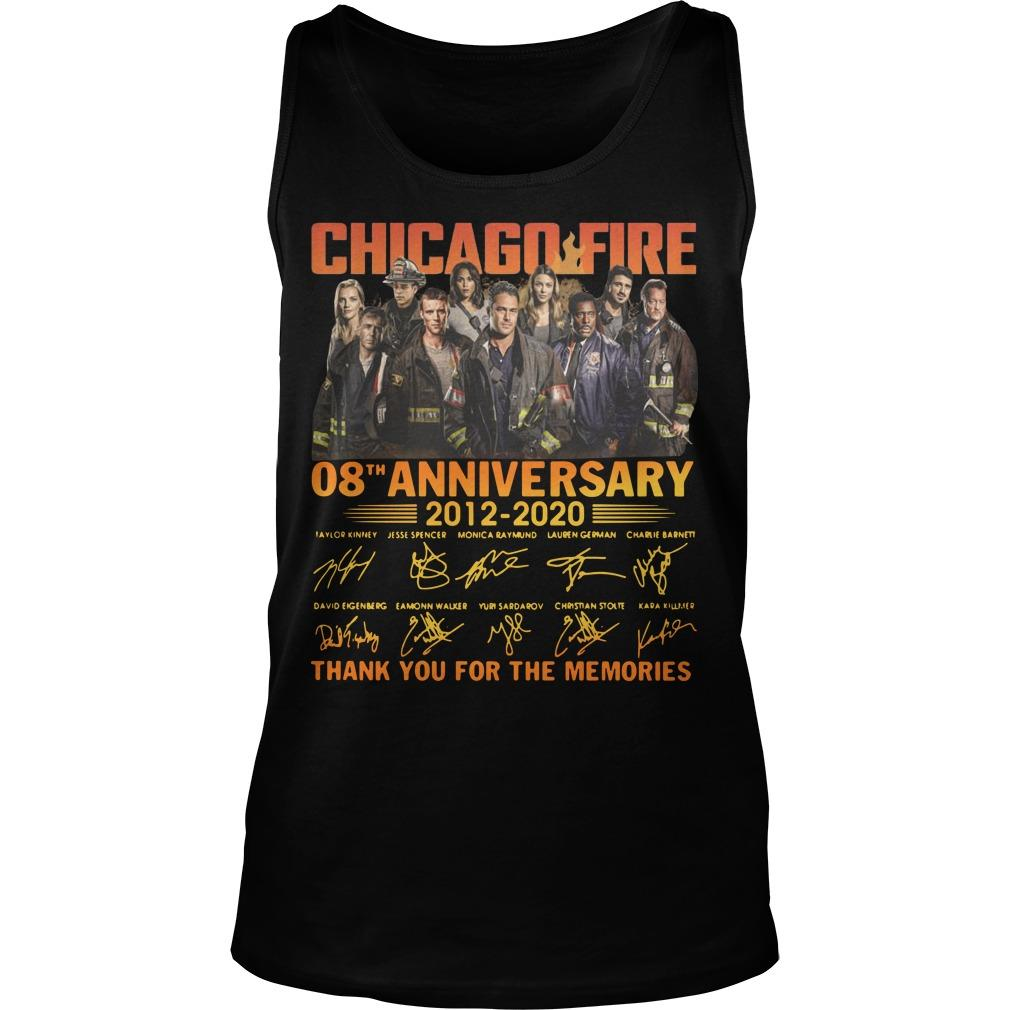 Chicago Fire 08th Anniversary Thank You For The Memories Tank Top