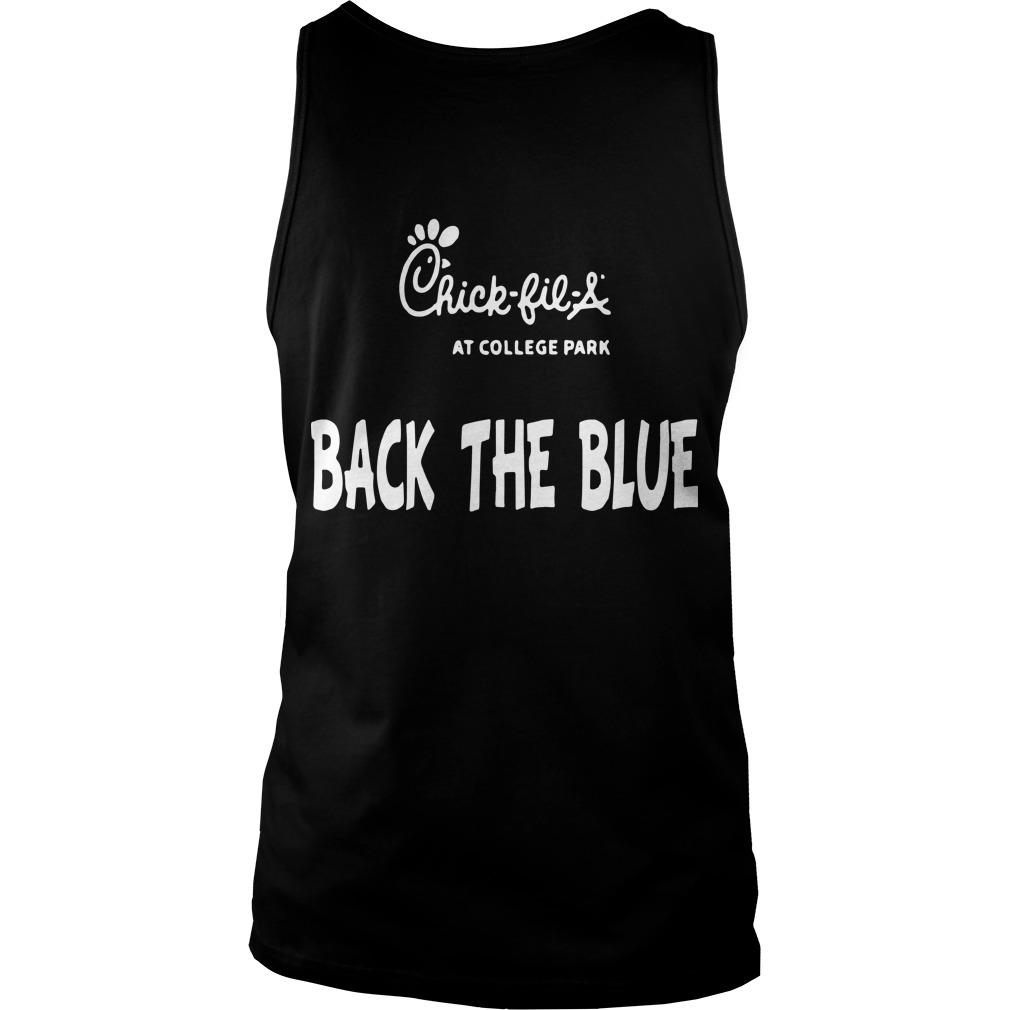 Chick Fil A Back The Blue Tank Top