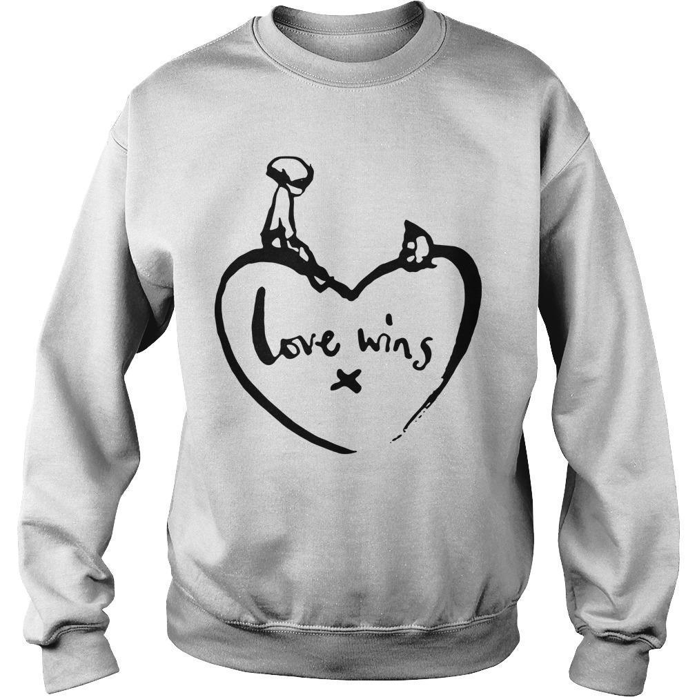 Comic Relief Love Wins T Sweater