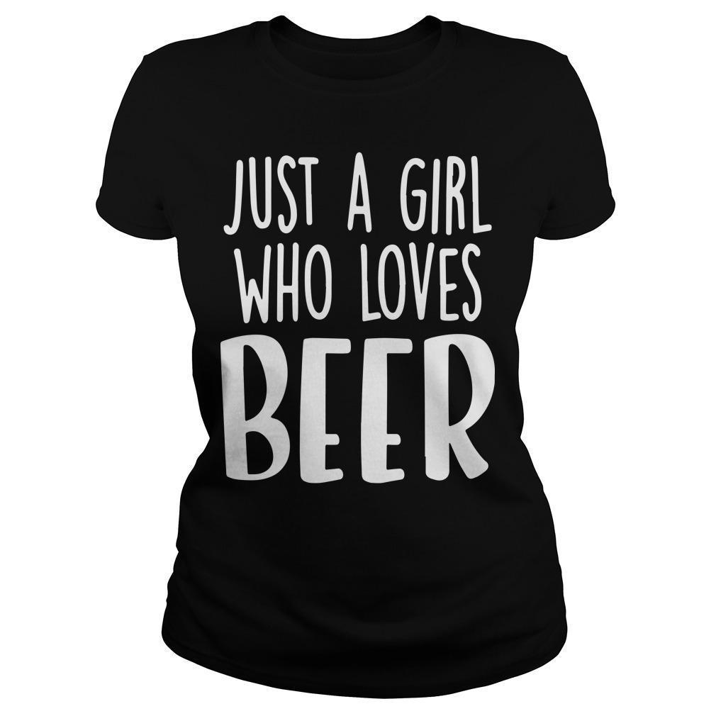 Just A Girl Who Loves Beer Longsleeve
