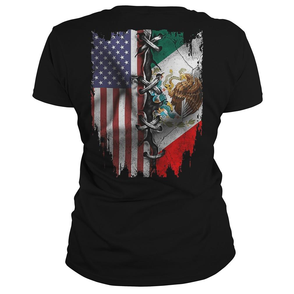 Mexican And American Flag Longsleeve