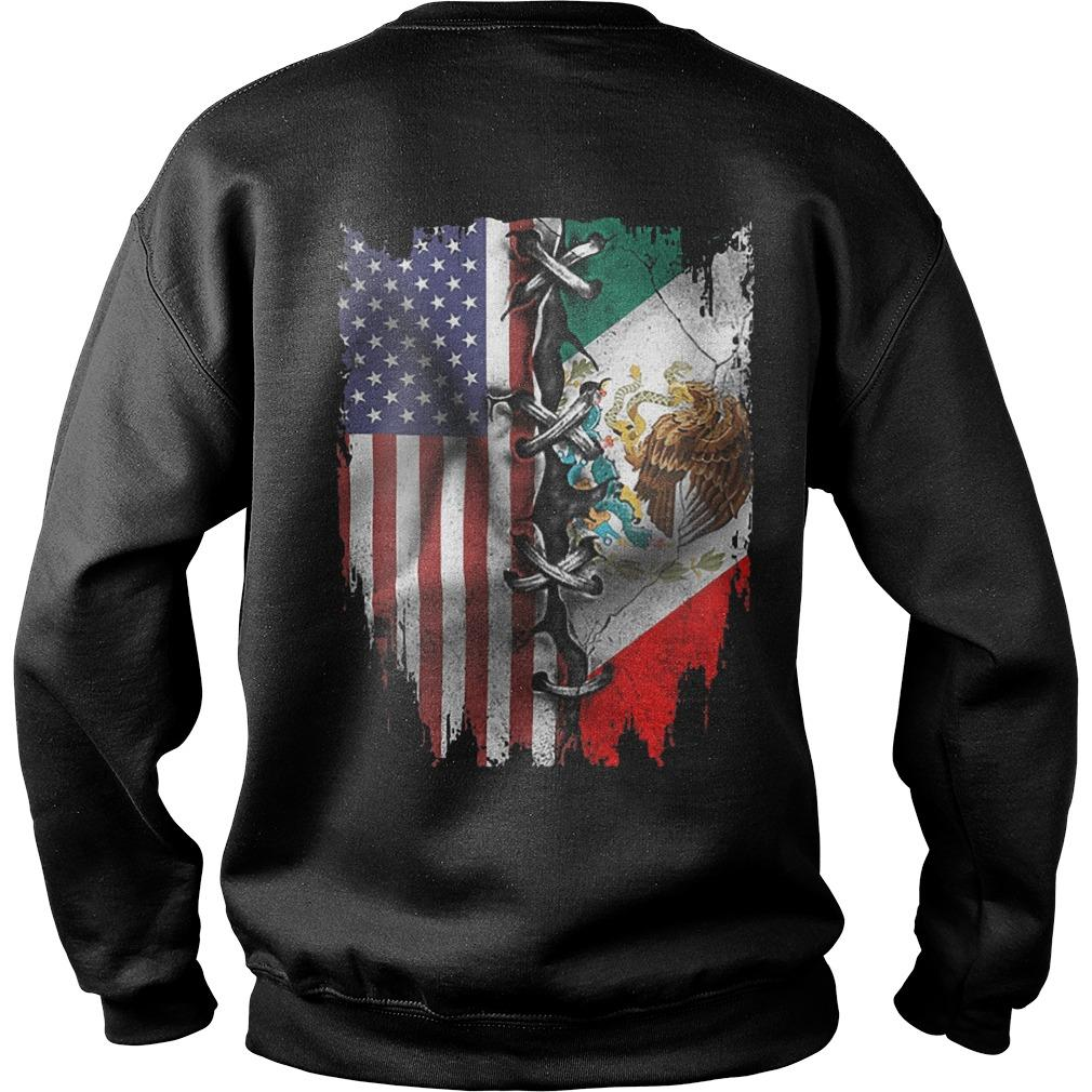 Mexican And American Flag Sweater