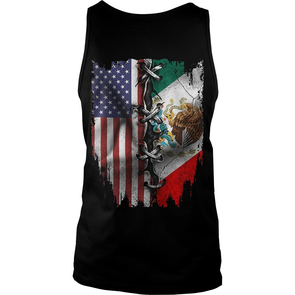 Mexican And American Flag Tank Top