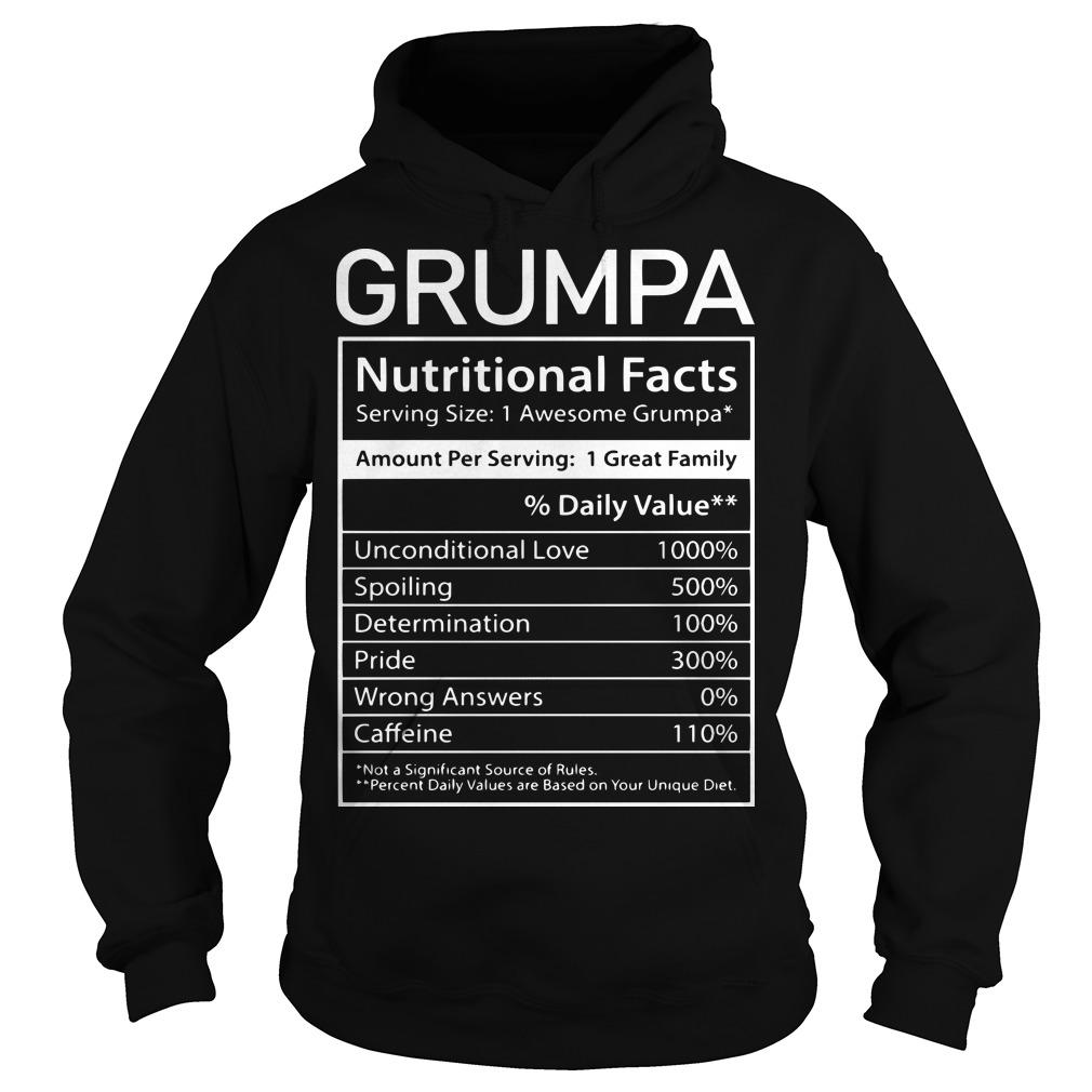 Nutrion Facts Grumpa Hoodie