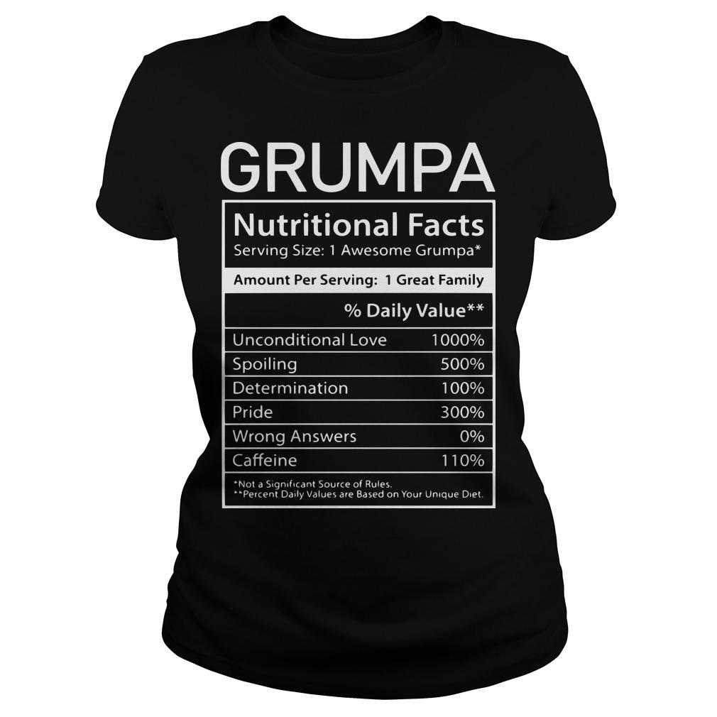 Nutrion Facts Grumpa Longsleeve