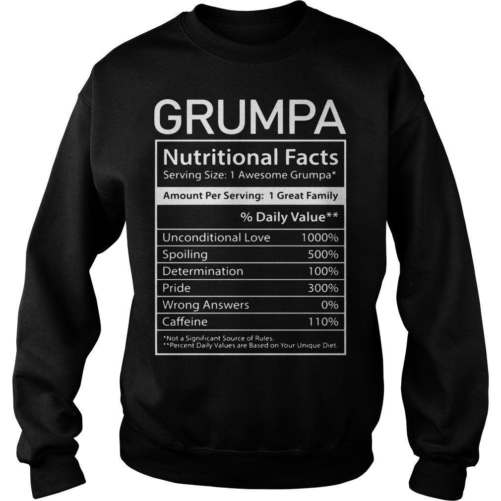 Nutrion Facts Grumpa Sweater