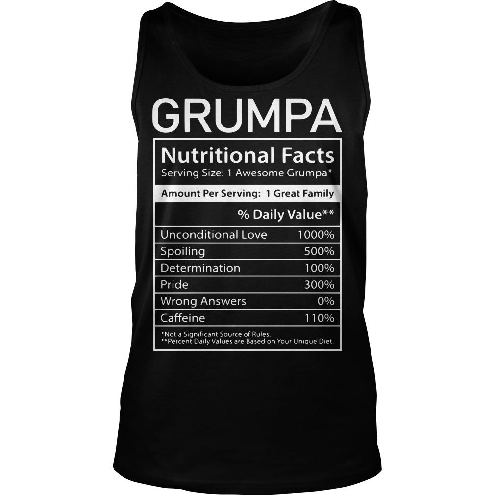 Nutrion Facts Grumpa Tank Top