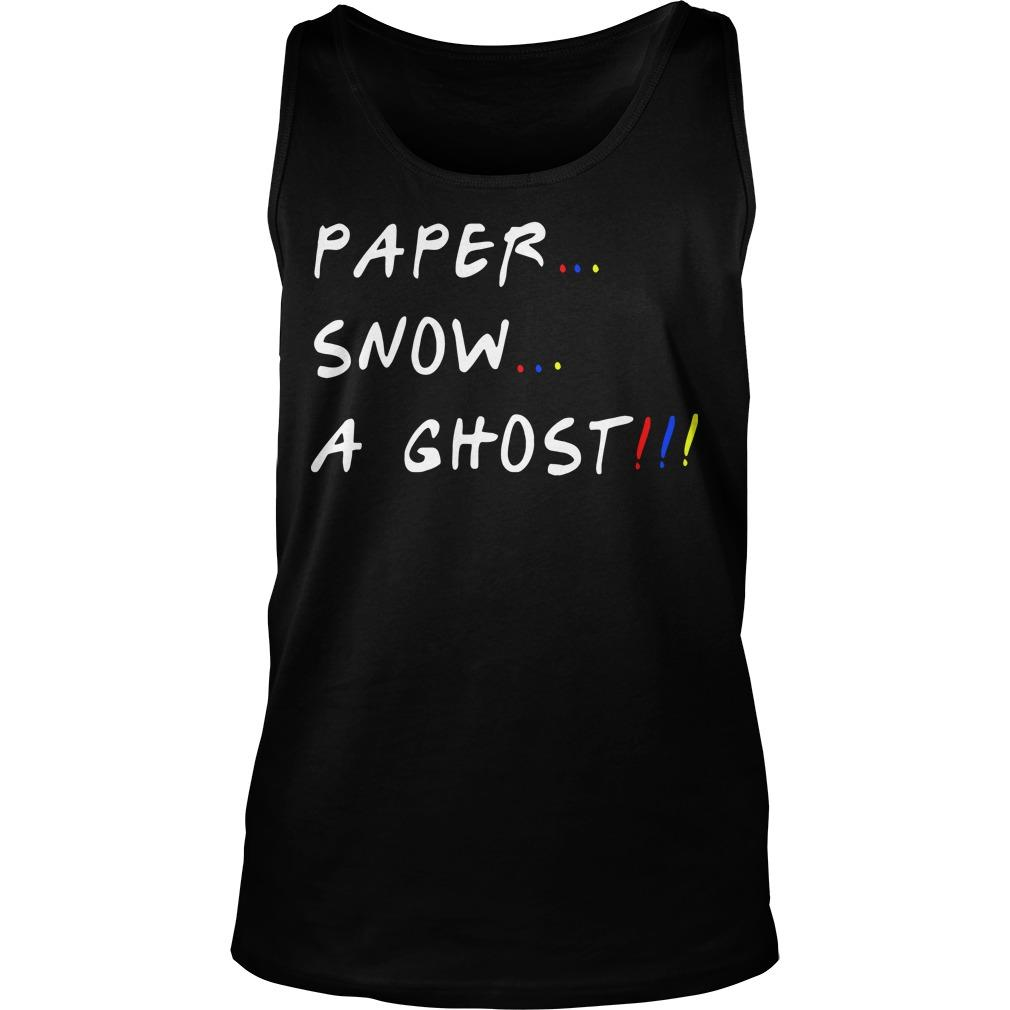 Paper Snow A Ghost Tank Top