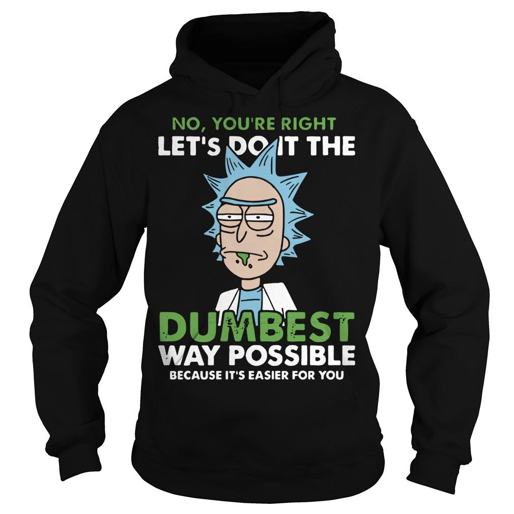 Rick And Morty On You're Right Let's Do It The Dumbest Way Possible Hoodie