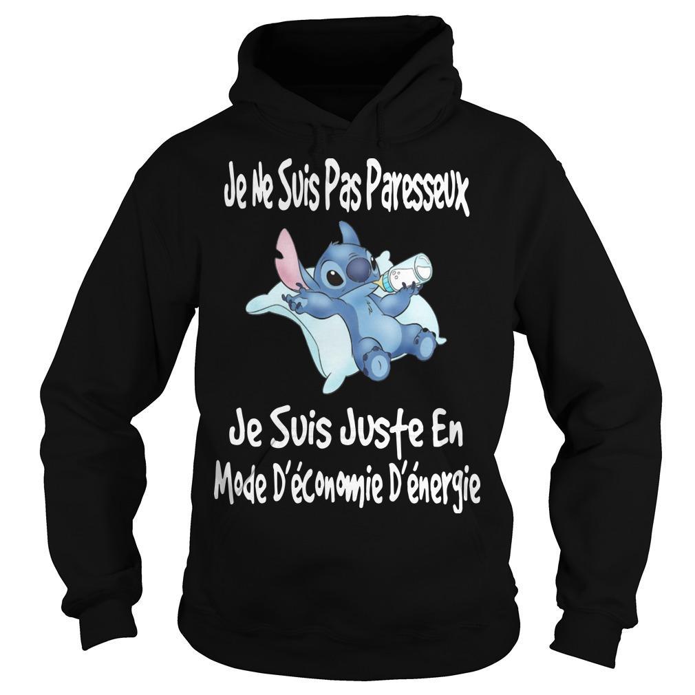 Stitch Je Ne Suis Pas Paresseux Je Suis Juste En Mode Hoodie