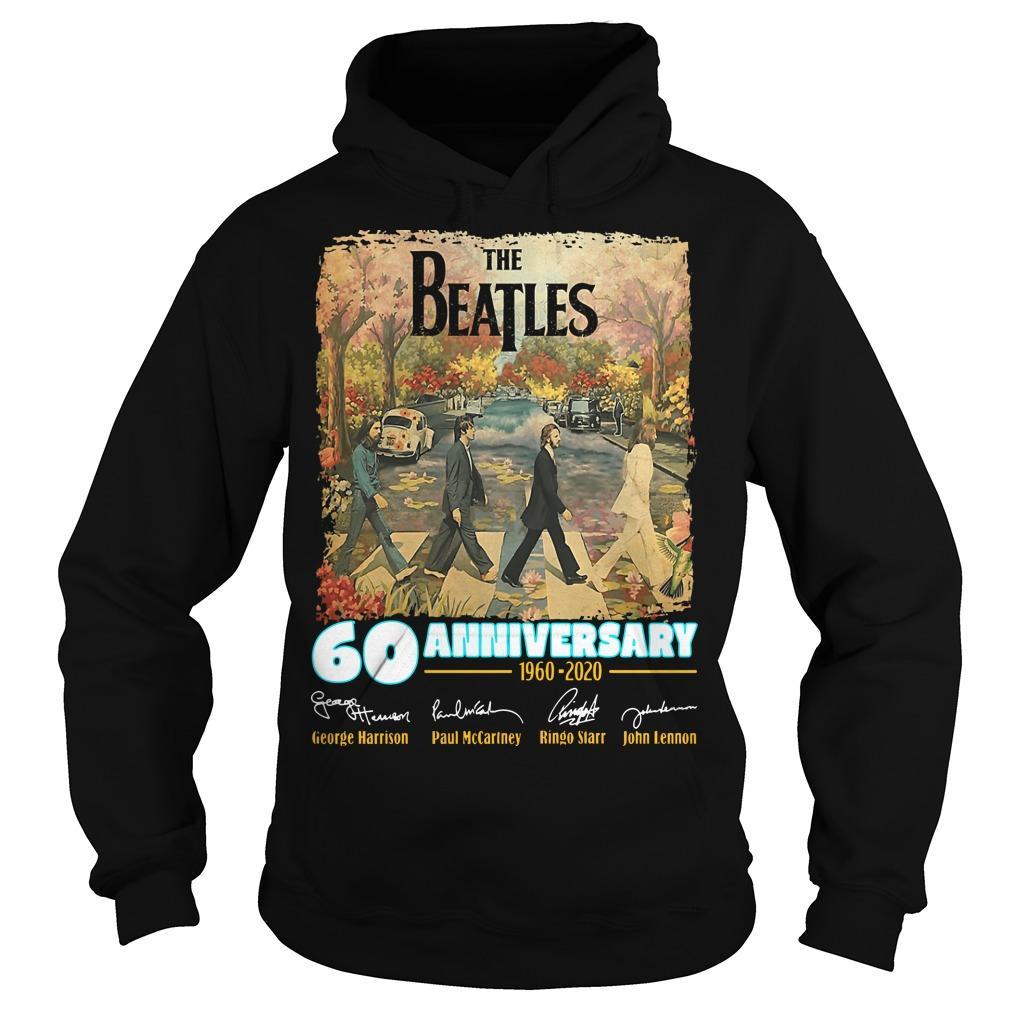 The Beatles 60 Anniversary George Harrison Paul McCartney Hoodie