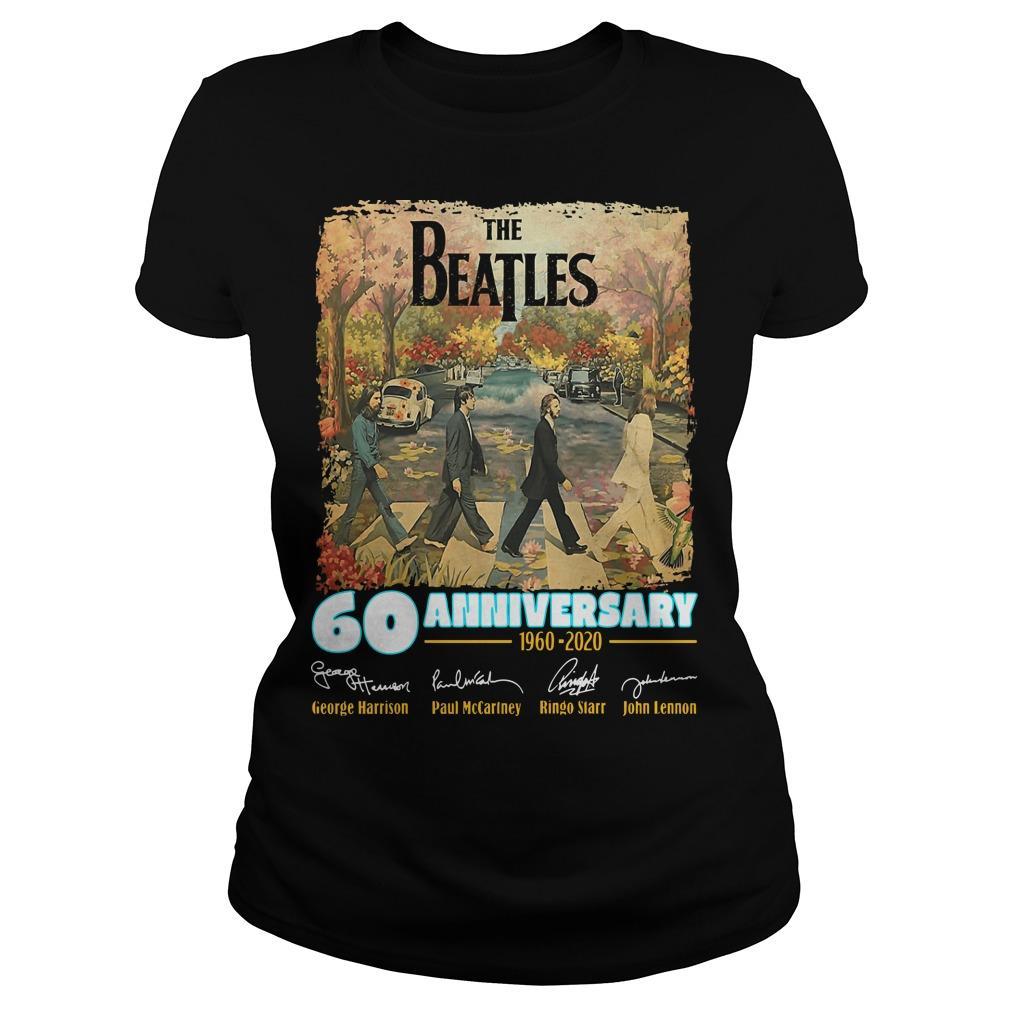 The Beatles 60 Anniversary George Harrison Paul McCartney Longsleeve