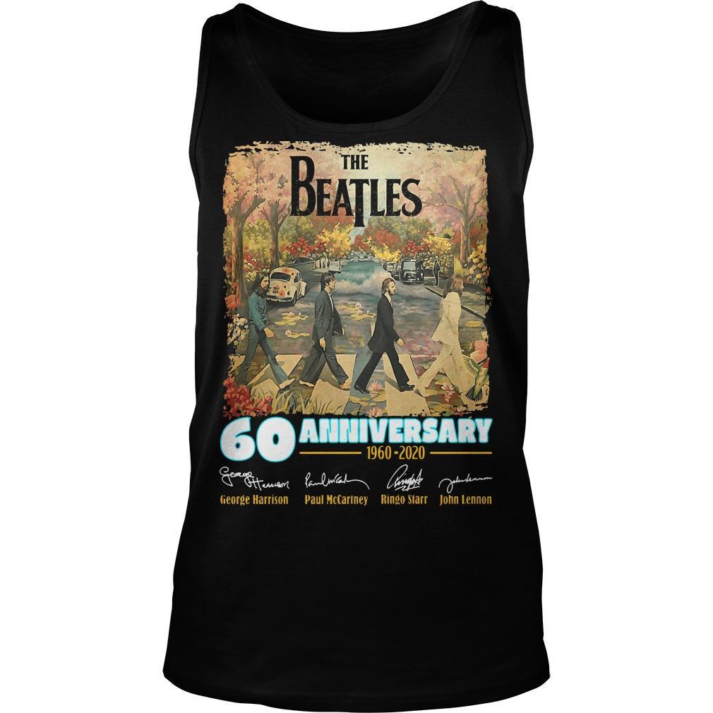 The Beatles 60 Anniversary George Harrison Paul McCartney Tank Top