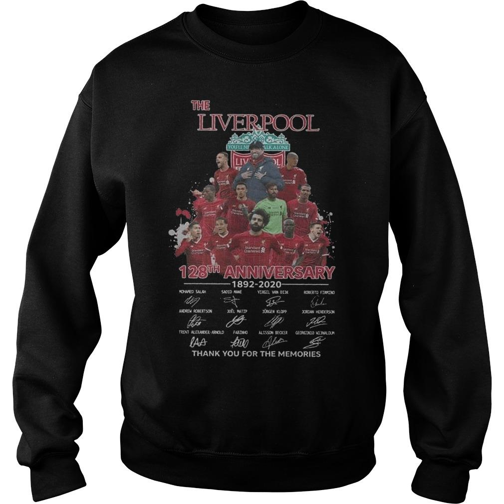 The Liverpool 128th Anniversary 1892 2020 Thank You For The Memories Sweater