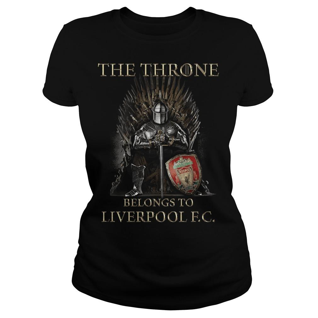 The Throne Belongs To Liverpool Fc Longsleeve