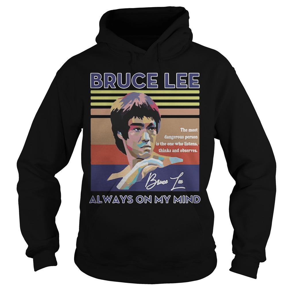 Vintage Always On My Mind Bruce Lee Hoodie