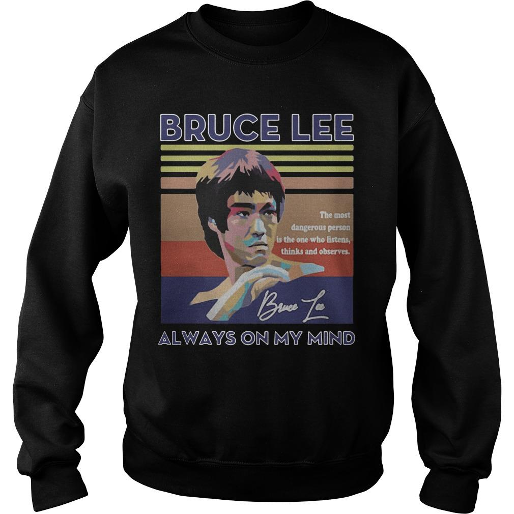 Vintage Always On My Mind Bruce Lee Sweater