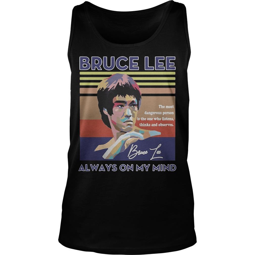 Vintage Always On My Mind Bruce Lee Tank Top