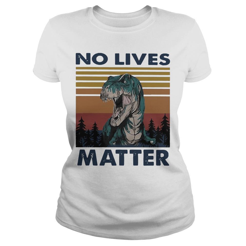 Vintage Dinosaurs No Lives Matter Longsleeve