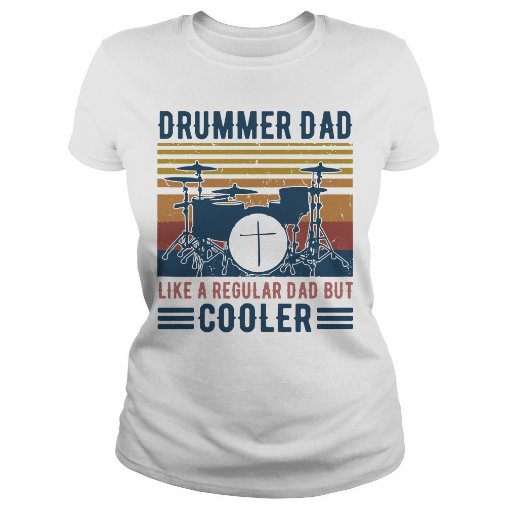 Vintage Drummer Dad Like A Regular Dad But Cooler Longsleeve