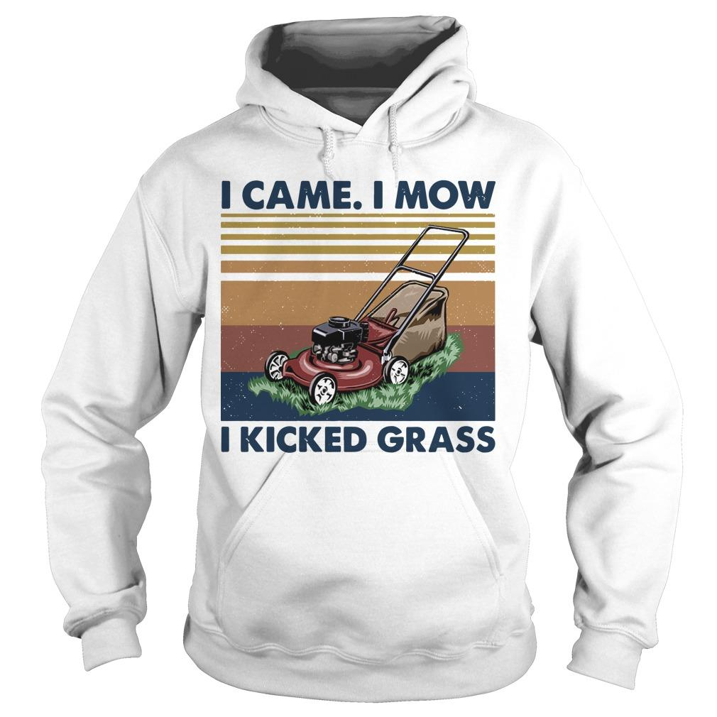 Vintage I Came I Mow I Kicked Grass Hoodie