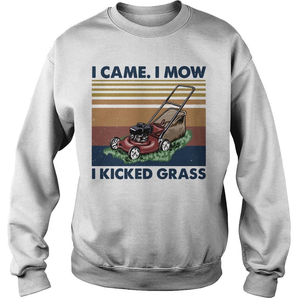 Vintage I Came I Mow I Kicked Grass Sweater