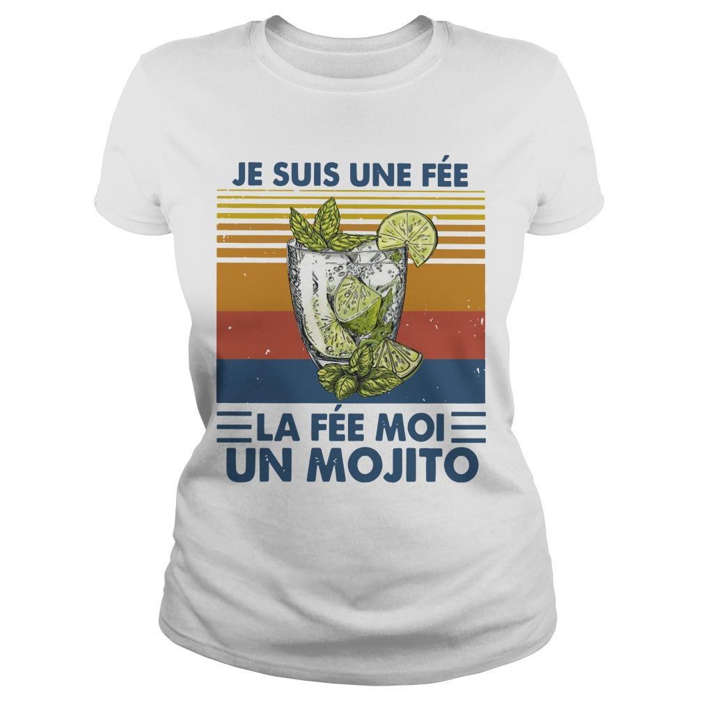 Vintage Je Suis Une Fée La Fée Moi Un Mojito Longsleeve
