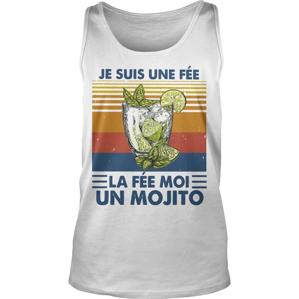 Vintage Je Suis Une Fée La Fée Moi Un Mojito Tank Top